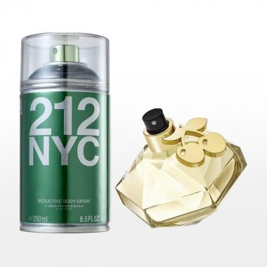 212 NYC Carolina Herrera Feminino 250ml + Queen Diva Pacha Ibiza 30ml
