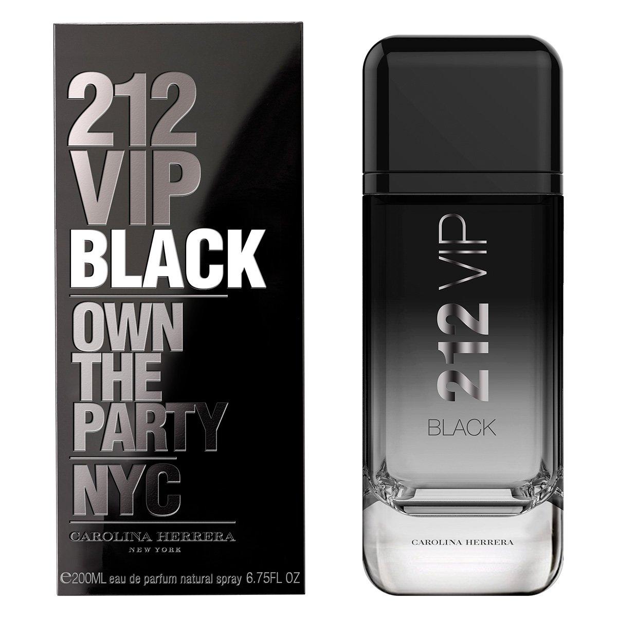 212 VIP Black Carolina Herrera - Perfume Masculino Eau de Parfum 200ml