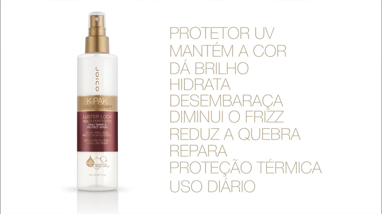 Leave-in Luster Lock Spray Joico K-PAK Color Therapy Multifuncional 200 ml