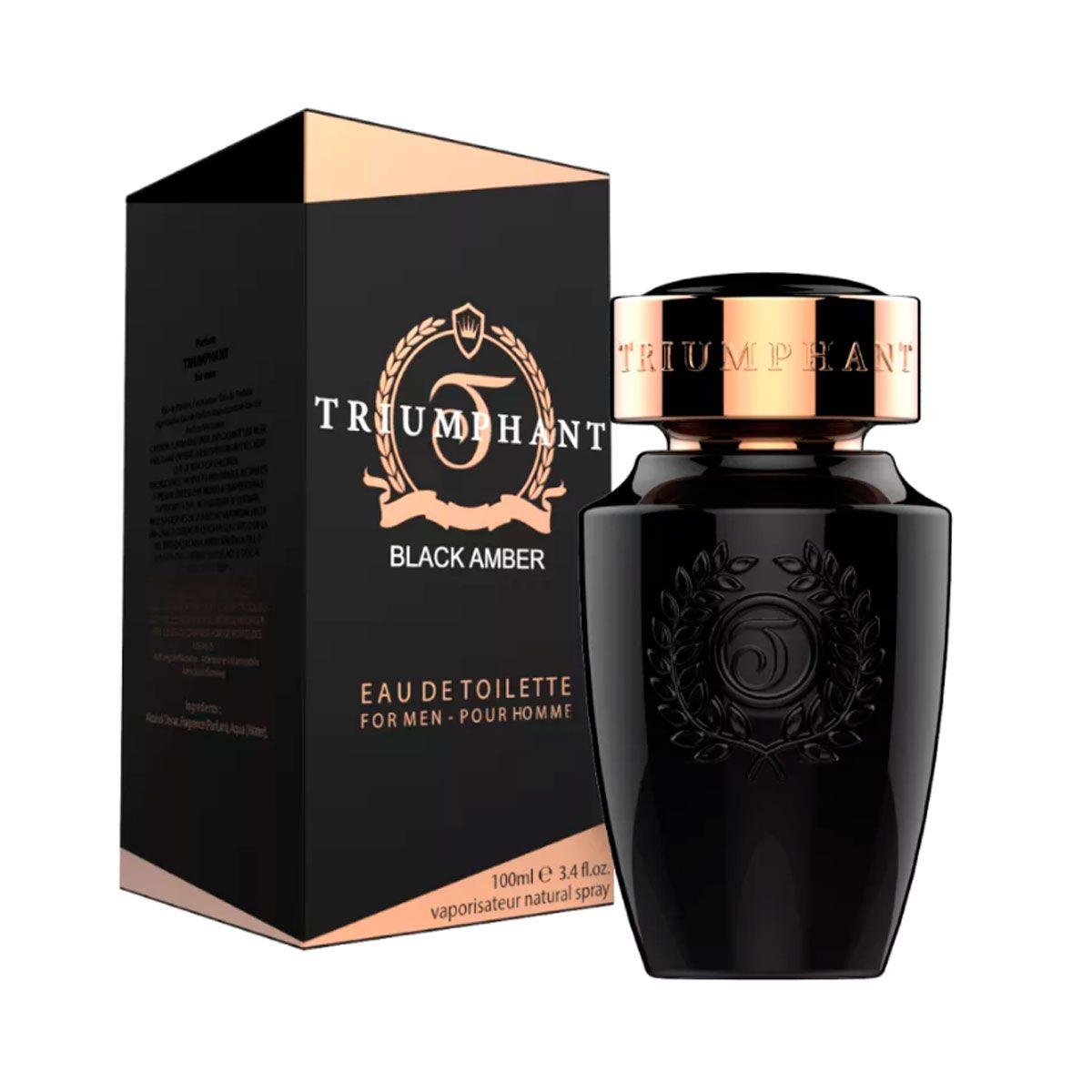 Perfume Masculino Black Amber Triumphant Edt 100ml