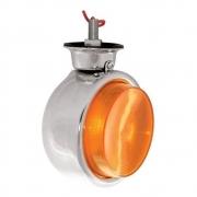 4 Lanternas Bojuda Foguinho Cromada Laranja LED para Caminhão 12v 24v