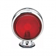 4 Lanternas Bojuda Foguinho Cromada Vermelha LED para Caminhão 12v 24v