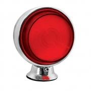 5 Lanternas Bojuda Foguinho Cromada Vermelho LED para Caminhão 12v 24v