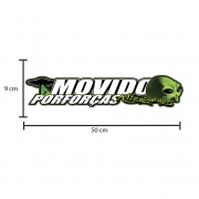 Adesivo Lateral Decorativo Interno Caminhão Movido por Forças Alienígenas 50 x 9