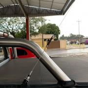 Antena Px Cromada Bobinada para Caminhonete 67cm Com Suporte