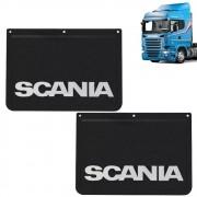 Apara Barro Dianteiro Injetado Alto Relevo Compatível com o Caminhão Scania (42x30) Par
