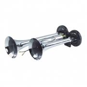 Buzina Para Caminhão 2 Cornetas Eletropneumática com Válvula Solenóide Bivolt