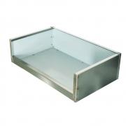 Caixa de Inox para Fogão 47 x 28 cm