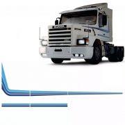 Conjunto Faixa Adesiva Azul Caminhão Scania T 113