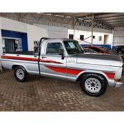 Conjunto Faixa Adesiva Vermelha Para Ford F1000 1989