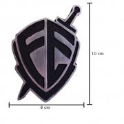 Emblema Decorativo Alumínio Fundido para Caminhão Fé