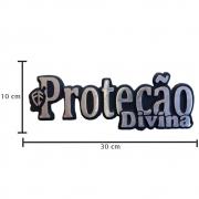 Emblema Decorativo para Caminhão Fé Proteção Divina