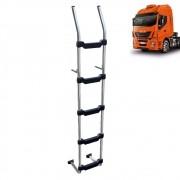 Escada Traseira para caminhão Iveco Stralis Hi-Way Cromada