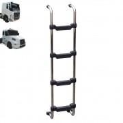 Escada Traseira para caminhão Volvo NH / FH Cabine Baixa Reservatório Climatizador Cromada
