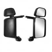 Espelho Retrovisor Plástico Injetado Completo Convexo Lado Direito com Auxiliar para Caminhão Scania P / G / R 124 S5