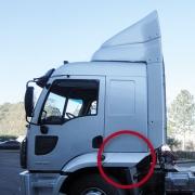 Extensão Para-Lama Cabine Lado Esquerdo para Caminhão Ford Cargo após 2012