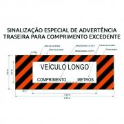 Faixa Adesiva Refletiva Veículo Longo 2.30 x 80