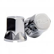 Kit 20 Capas de Porca Cromada Tradicional para Caminhão Ford 33mm