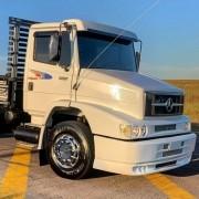 Kit Faixas Adesiva Lateral Truck + Par Emblemas Para Mb 1620