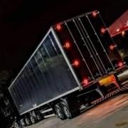 Kit Lanternas Traseiras de Led Tampa Baú Caminhão Carreta 8 Unidades