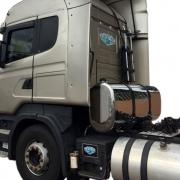 Kit Tanque Cela para Caminhão Oval Inox Plataforma 355 Litros Completo