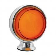Lanterna Bojuda Foguinho Cromada Laranja LED para Caminhão 12v 24v