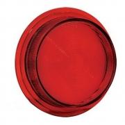 Lente para Lanterna Foguinho Bojuda para Caminhão Vermelha