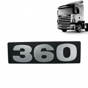 Letreiro Emblema Frontal 360 Para Caminhão Scania S4 até 2004