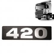 Letreiro Emblema Frontal 420 Para Caminhão Scania S4 até 2004