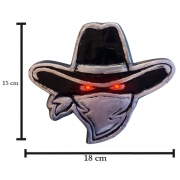 Luminoso Cowboy em Alumínio com Led Para Caminhão Carreta 12V 24V Preta