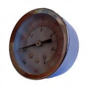 Manometro Horizontal 1/4 50mm 10 Bar para Suspensão a Ar