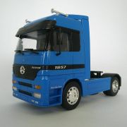 Miniatura Caminhão Mercedes-benz Actros Toco 4x2 Escala 1:32 Azul