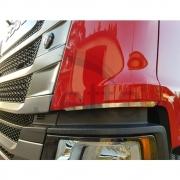 Par Aplique Defletor Coluna Cromado para Caminhão Scania NTG após 2020