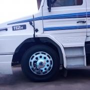 Par Calota Protetora de Roda Cromada Fechada para Caminhão Roda aro 22,5