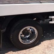 Par Calotas Cromada Traseira para Caminhão Roda aro 17,5 Pneu 215 Speedline Roda Estreita