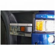 Par de Acabamentos em Inox Estribo Compatível com o Caminhão Scania a Partir de 2011