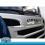 Par de Acabamentos Entrada de Ar Compatível com o Caminhão Scania P S5 Antigo