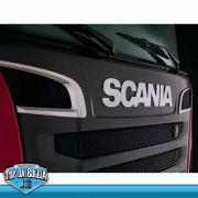 Par de Acabamentos Entrada de Ar Compatível com o Caminhão Scania P S5 Moderno