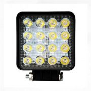 Par Farolete de Led Quadrado 16 Leds 42 W 12V 24V