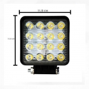 Par Farolete de Led Quadrado 16 Leds 48 W 12V 24V