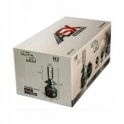 Par Lâmpada Ultra Led Headlight H3 CSP 70W 8000 LUMÉNS Bivolt com Cooler