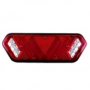 Par Lanterna Traseira LED para Caminhão 12v Universal Pisca Sequencial