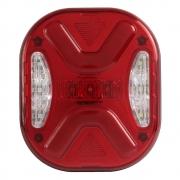 Par Lanterna Traseira Vermelha para Caminhão Marmitão Sequencial 24v
