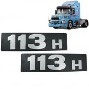 Par Letreiro Lateral Capo para Caminhão Scania 113H