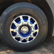 Par Sobre Tampa Cubo Cromada Dianteira para Caminhão Scania S5 Freio a Disco