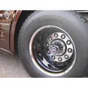Par Sobre Tampa Cubo Cromada Tração para Caminhão Scania Decorada