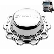 Par sobre tampa cubo Compatível com o Caminhão Scania traseira truck cromado