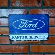 Placa Decorativa Ford Parts & Service Old School 30x20 Cm
