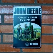 Placa Decorativa John Deere Quality Farm Equipment 30x20 Cm
