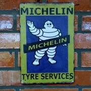 Placa Decorativa Michelin Tyre Services Old School 30x20 Cm
